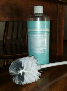 I used Dr Bronner's Magic soap to clean my toilets.