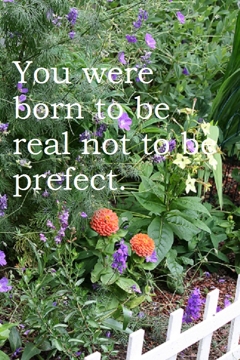 You were born to be real not to be perfect.